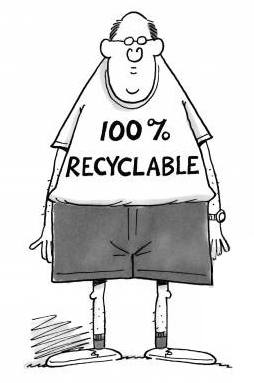 Humans are 100% recyclable.